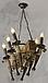 Люстра под старину на 6 факелов из натурального дерева 160726, фото 3