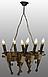 Люстра под старину на 6 факелов из натурального дерева 160726, фото 5