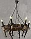 Люстра деревянная на 6 свечей, фото 2