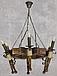 Люстра деревянная на 6 свечей, фото 3