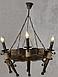 Люстра деревянная на 6 свечей, фото 4