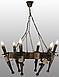 Люстра деревянная на 6 свечей, фото 5