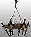 Люстра деревянная на 6 свечей, фото 6