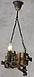 Кованая люстра из дерева, фото 5