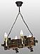 Деревянная люстра под старину на 4 свечи 690324, фото 3