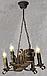Деревянная люстра под старину на 4 свечи 690324, фото 6