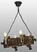 Деревянная люстра под старину на 4 свечи 690324, фото 7
