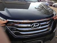 Хром капота верх для Hyundai Santa Fe IX45 2013+