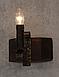 Бра из натурального дерева для дома на 1 свечу 120921, фото 3