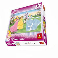 Пазл 30 ел. максі - Три принцессы возле дворцаDisney