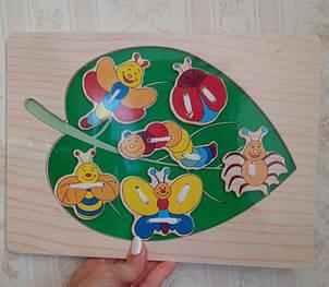 Дерев'яна шнурівка-вкладиш для дітей, фото 2