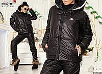 """Стильный женский костюм дутик """"Adidas"""" однотонный, фото 1"""