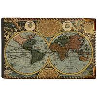 Стильна візитниця у вигляді карти