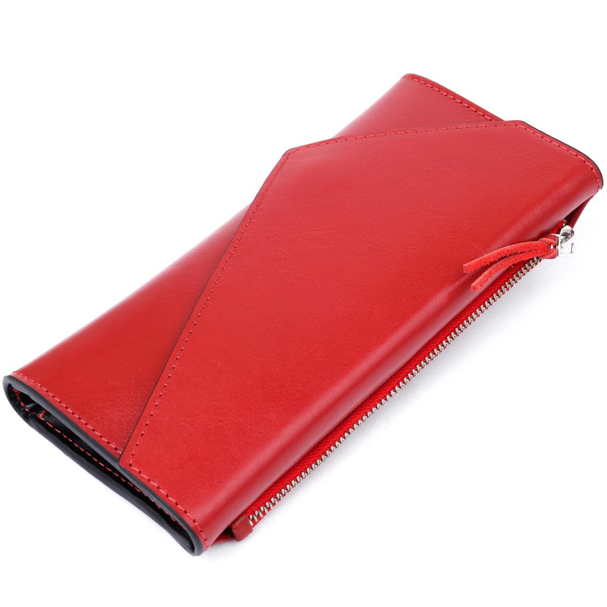 Жіночий місткий гаманець GRANDE PELLE 11368 Червоний