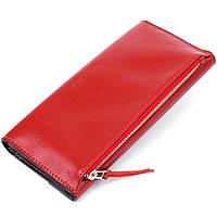 Жіночий місткий гаманець GRANDE PELLE 11368 Червоний, фото 2