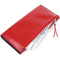 Жіночий місткий гаманець GRANDE PELLE 11368 Червоний, фото 5