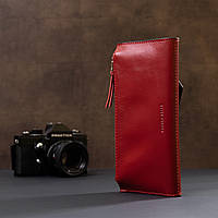 Жіночий місткий гаманець GRANDE PELLE 11368 Червоний, фото 7