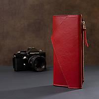 Жіночий місткий гаманець GRANDE PELLE 11368 Червоний, фото 8
