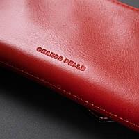 Жіночий місткий гаманець GRANDE PELLE 11368 Червоний, фото 9
