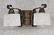 Деревянная бра с элементами декора на 2 плафона 680312, фото 3