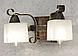 Деревянная бра с элементами декора на 2 плафона 680312, фото 6