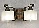 Деревянная бра с элементами декора на 2 плафона 680312, фото 7