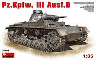 Средний танк Pz III Ausf D  1\35  MiniART