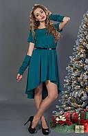 Ассиметричное женское платье в расцветках, фото 1