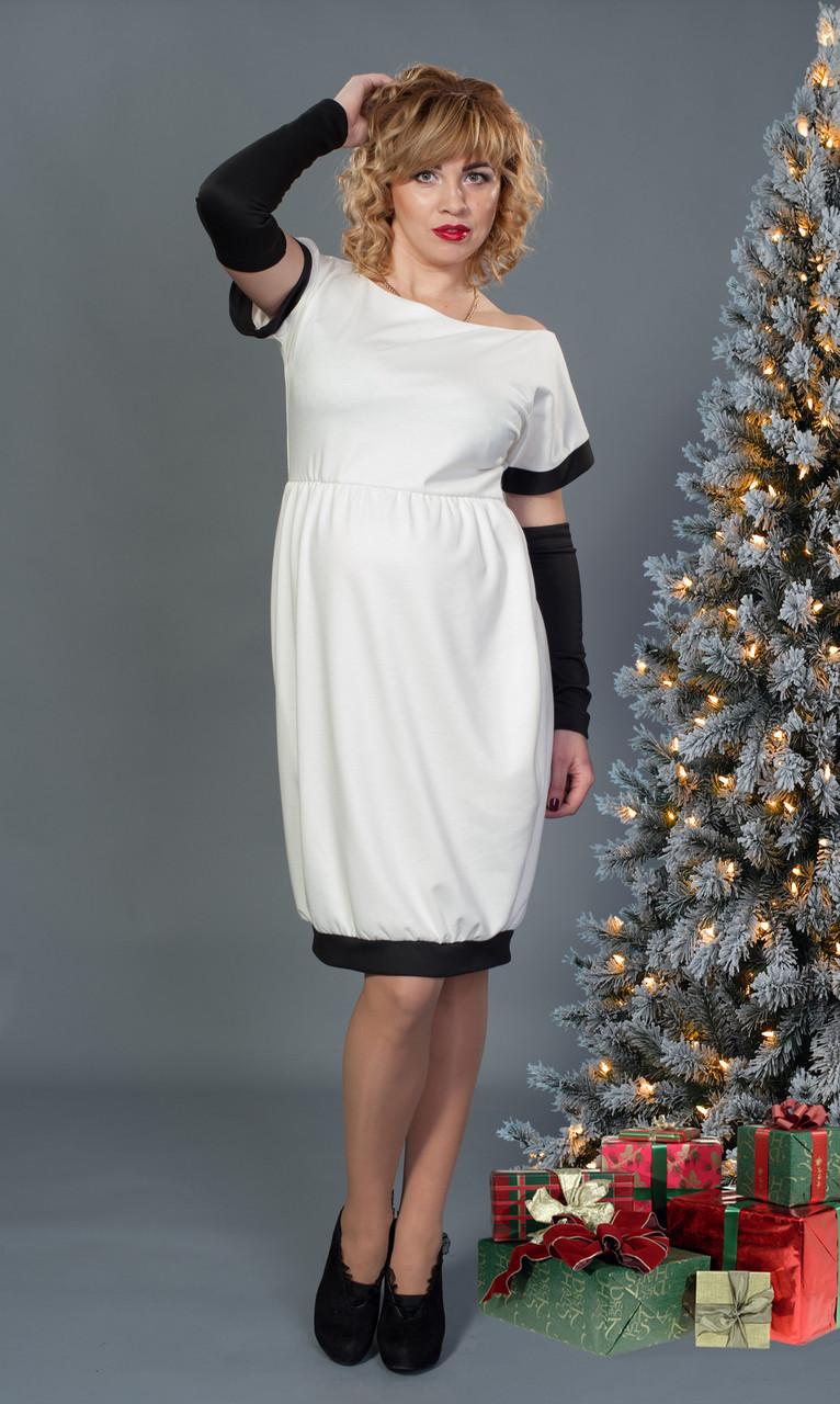 Платье с съемными рукавами