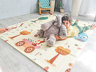 """Дитячий розвиваючий ігровий розкладний термоковрик-мат """"Тварини-Ведмедики"""" 1,5*1,8 м"""