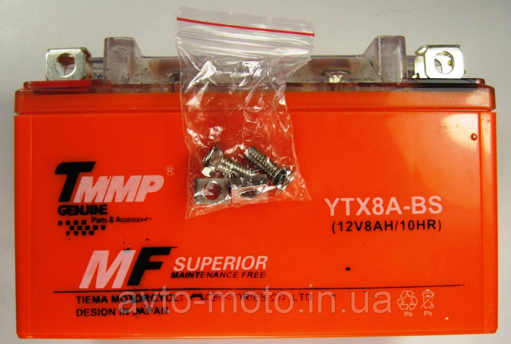 Аккумулятор 12v8a.h. оранжевый гелевый 150*95*85 TMMP