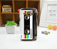 Cиликоновый чехол бампер с рисунком для Samsung Galaxy Core 2 G355 Кассета, фото 1