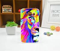Cиликоновый чехол бампер с рисунком для Samsung Galaxy Core 2 G355 Лев, фото 1