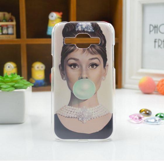 Cиликоновый чехол бампер с рисунком для Samsung Galaxy Core 2 G355 Одри