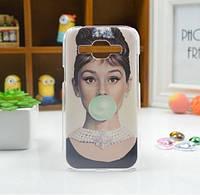 Cиликоновый чехол бампер с рисунком для Samsung Galaxy Core 2 G355 Одри, фото 1