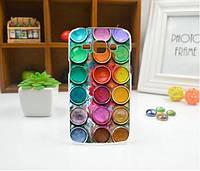 Cиликоновый чехол бампер с рисунком для Samsung Galaxy Core 2 G355 Краски, фото 1