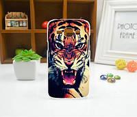 Cиликоновый чехол бампер с рисунком для Samsung Galaxy Core 2 G355 Тигр, фото 1