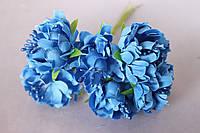 Хризантема пышная 60 шт/уп. диаметр около 3,5 см диаметр синего цвета оптом
