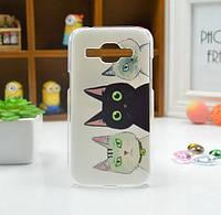 Cиликоновый чехол бампер с рисунком для Samsung Galaxy Core 2 G355 Коты, фото 1