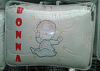"""Фирменный комплект постельного белья с балдахином. Вышивка """"Малыш"""""""
