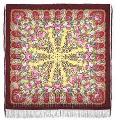 """Платок шерстяной с шелковой бахромой """"Лукоморье"""", вид 7, 146x146 см"""