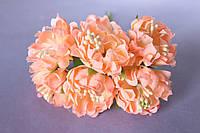 Хризантема пышная 60 шт/уп. диаметр около 3,5 см диаметр персикового цвета оптом, фото 1