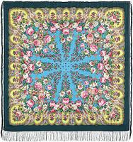 """Платок шерстяной с шелковой бахромой """"Лукоморье"""", вид 9, 146x146 см"""