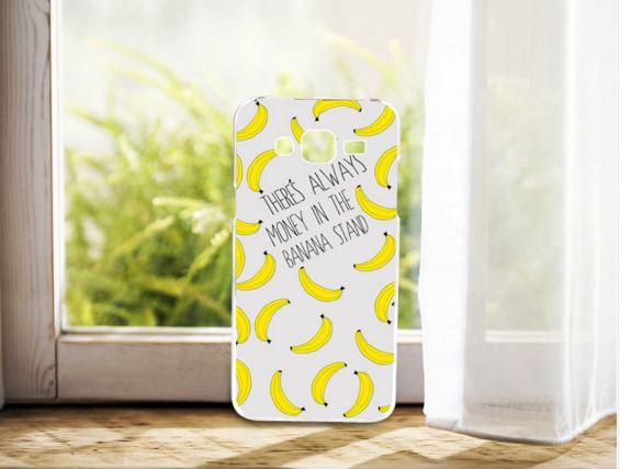 Cиликоновый чехол бампер с рисунком для Samsung Galaxy Core 2 G355 Бананы