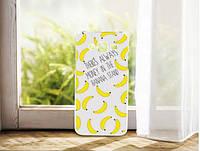 Cиликоновый чехол бампер с рисунком для Samsung Galaxy Core 2 G355 Бананы, фото 1