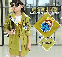 Весенняя коттоновая курточка на девочку Д 01063-И
