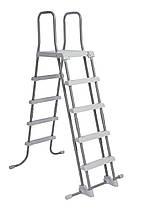 Лестница для бассейна Intex c платформой 122-132 см,  (58971)