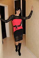 Платье гипюровое с рукавом