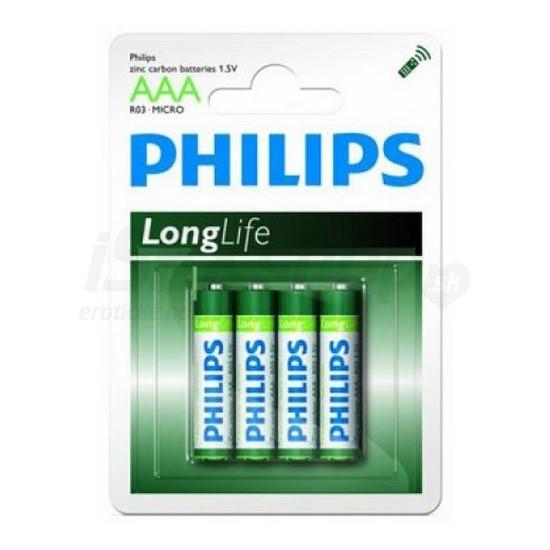 Батарейка Philips R03 микро пальчиковая на блистере AAA 1.5V