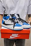 🔥 Кросівки чоловічі Air Jordan Retro 1 High x Fragment x Travis Scott, фото 8